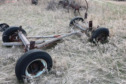 Wood Wagon Running Gear with Rubber Tires | Mandan, ND