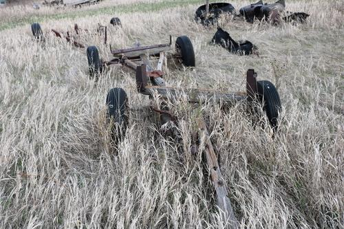 Wood Wagon Running Gear With Rubber Tires Mandan Nd