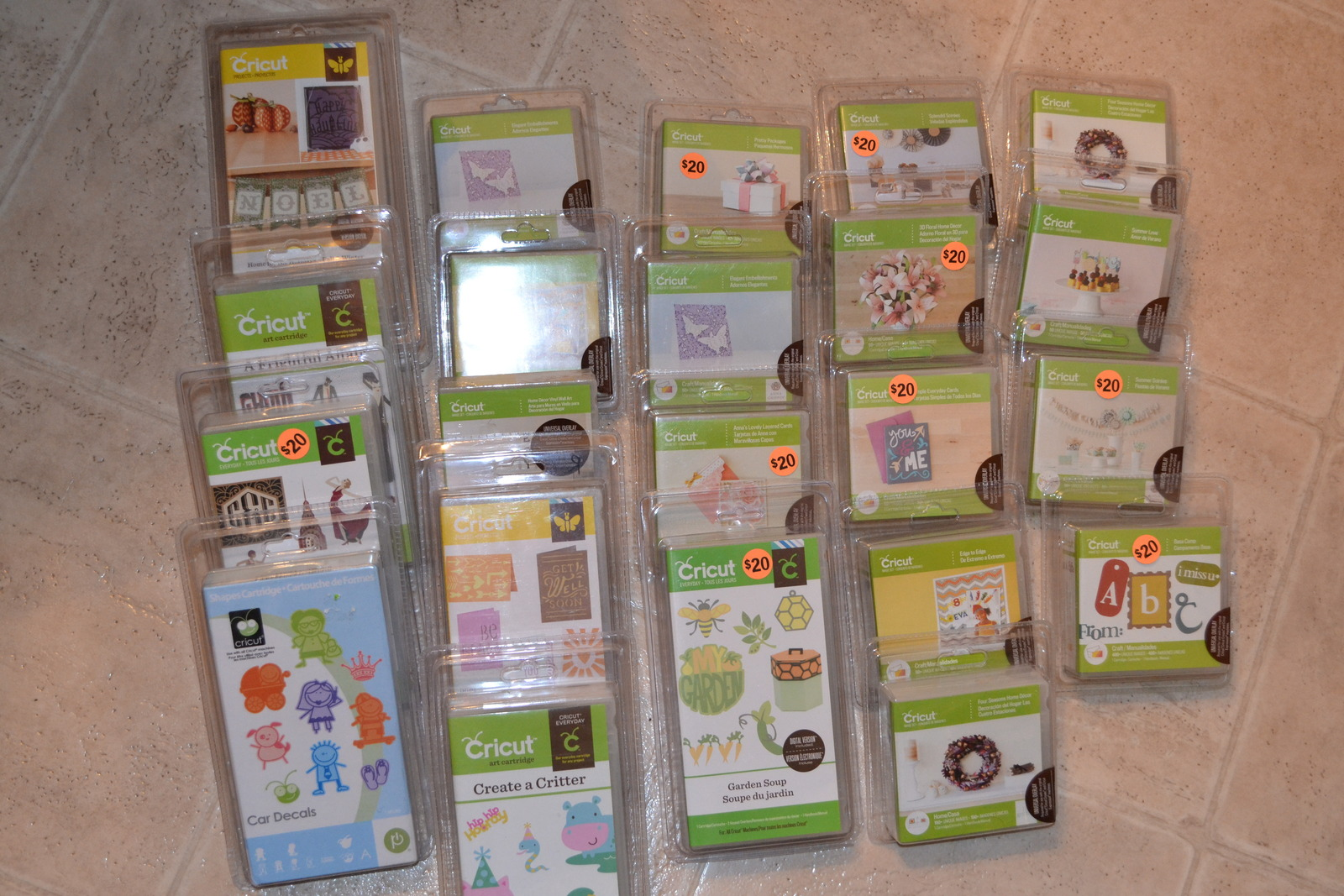 Brand New Cricut Cartridges, sealed in packages $20 00 each | Bismarck, ND